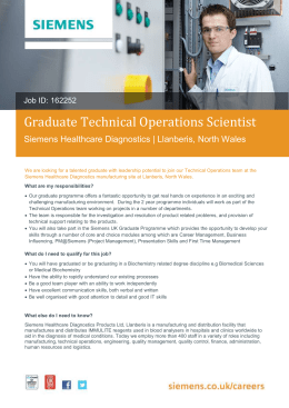 Graduate Technical Operations Scientist