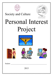 The Personal Interest Project (PIP)