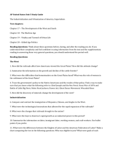 AP United States Unit 5 Study Guide The Industrialization and