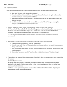 APES 2014/2015 Unit 2-Chapters 3,4,5 Free Response Questions 1
