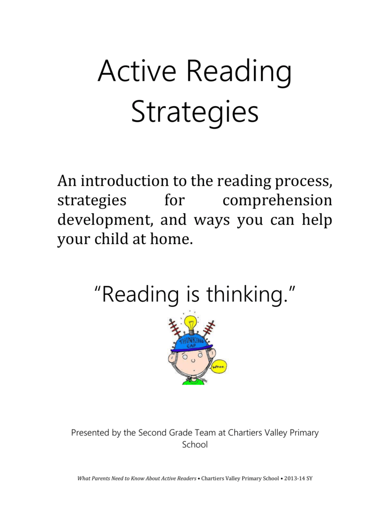 Improving Reading Comprehension Active Reading Strategies