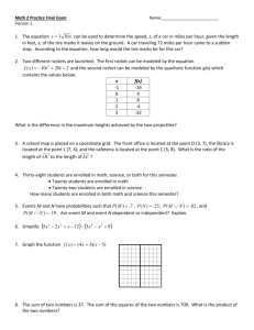 Math 2 Practice Final - Version 1 - devans