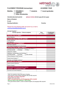placement programme form