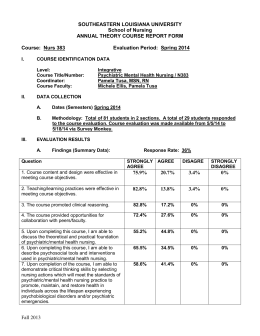 N383 THEORY Course Report Form SP 2014