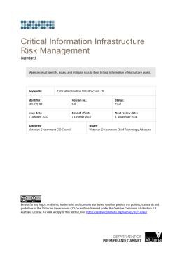 Critical Information Infrastructure (CII)