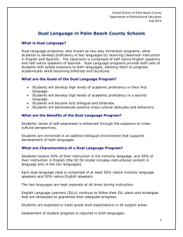 Dual Language in Palm Beach County