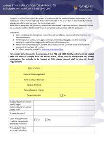 Breeding Project Application Form