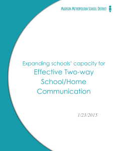 Two-way communication - Family, Youth and Community Engagement