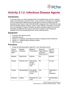 activity 5.1.2 infectious agent chart