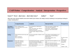 CAIP Fiction – Comprehension – Analysis