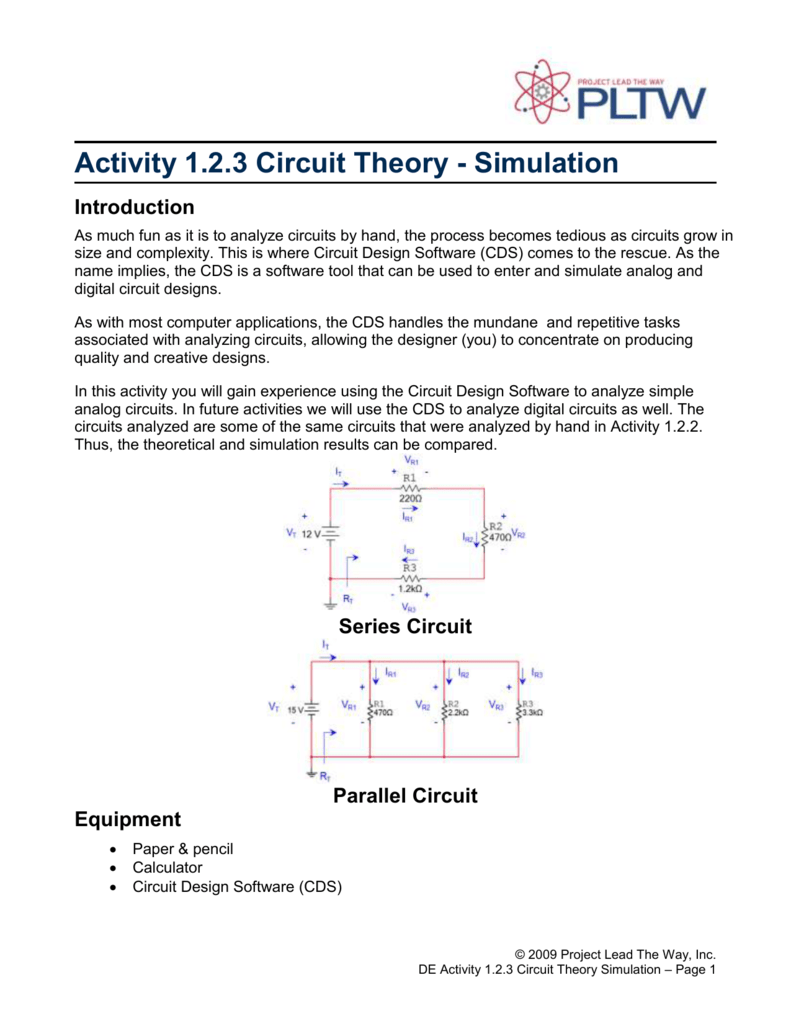 123a Circuit Theory Simulation Electrical Software A