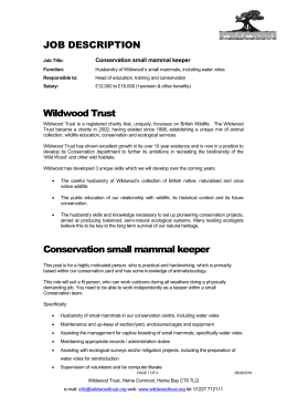 Small Mammal Keeper (Conservation)