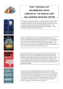 Recommended reading List Year 7