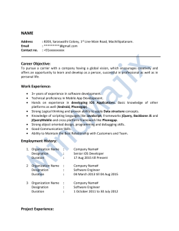 IOS Development Sample Resume-2