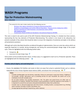 WASH - Global Protection Cluster