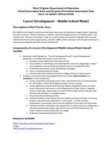 Middle School Career Development Guidance Document
