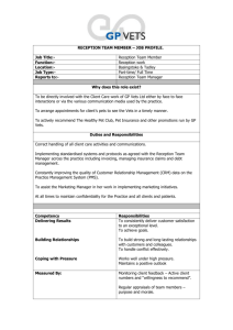 Receptionist Job Profile