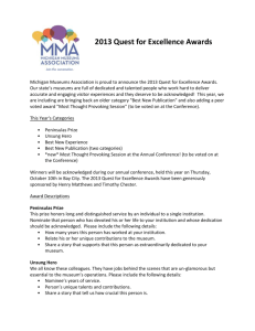 Quest for Excellence 2013 Paper Form