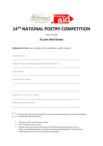 Divine Chocolate Poetry 2016 entry form