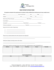 Our New Patient Intake Form - Phoenix Anti