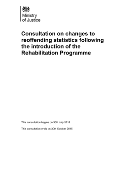 Changes to reoffending statistics following the introduction