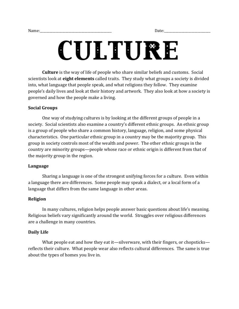 8 traits culture