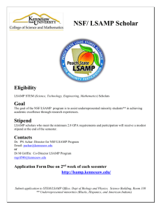 LSAMP Scholar Eligibility - Kennesaw State University