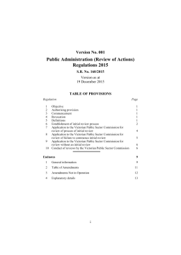 Public Administration (Review of Actions) Regulations 2015