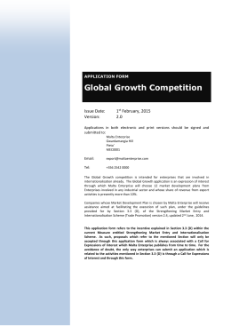 Global Growth - Application Form