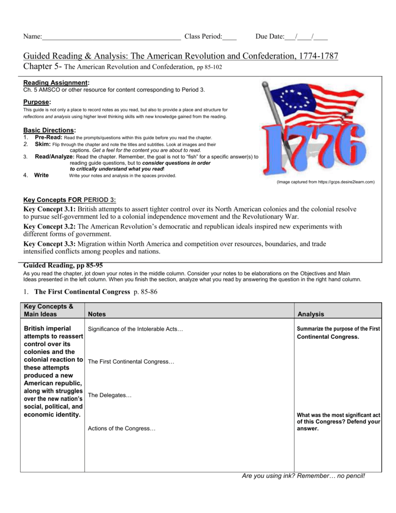 guided reading analysis the american revolution and rh studylib net the americans guided reading activities the americans guided reading ch 16-1