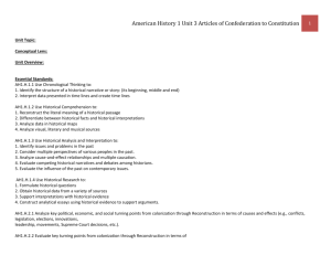 American History 1 Unit 3 Articles of Confederation to Constitution
