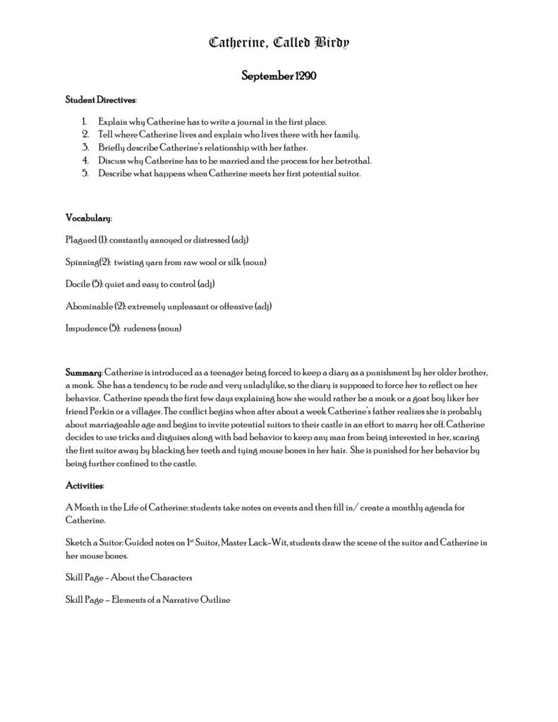 catherine called birdy rh studylib net