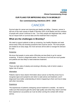 Cancer - NHS Bromley CCG