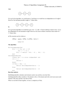 Theory of Algorithms Assignment #6