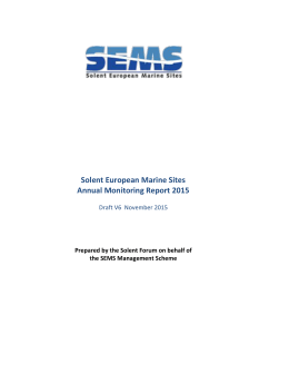 SEMS Annual Monitoring Response Report, 2015