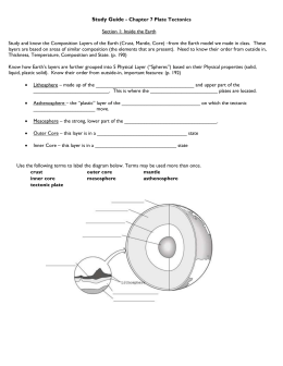 Study Guide – Ch 7 Plate Tectonics Modified