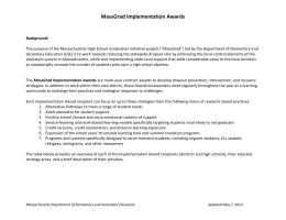 MassGrad Implementation Awards Snapshots