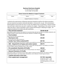 Surgery Forms - Bastrop Veterinary Hospital
