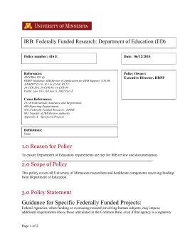 Minutes of irb meetings institutional review board federally funded research department of education pronofoot35fo Choice Image