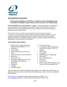 FOR IMMEDIATE RELEASE ADVANCED DISPOSAL INVITES ST