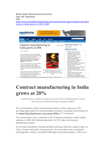 Manufacturing Chemist, 28 th Sept 2015