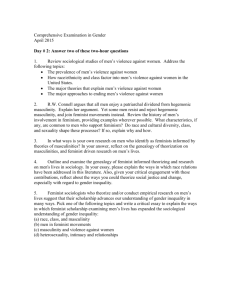Comprehensive Examination in Gender April 2015 Day # 2: Answer