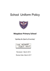 School Uniform policy 2015 - 2016