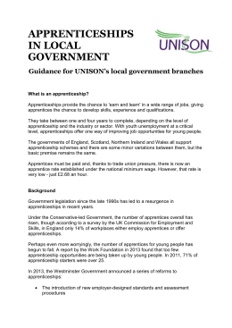 Apprenticeships in local government guidance