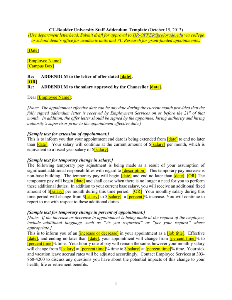 006755474_1-d5d14b970209b88d048685497fa18d24 Sample Addendum Letter Template on employee termination, university petition, employment termination, professional cover, campaign fundraising, resume cover, character reference, for kids, business proposal, company introduction, donation request,