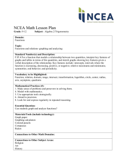 NCEA Math Lesson Plan Grade: 9