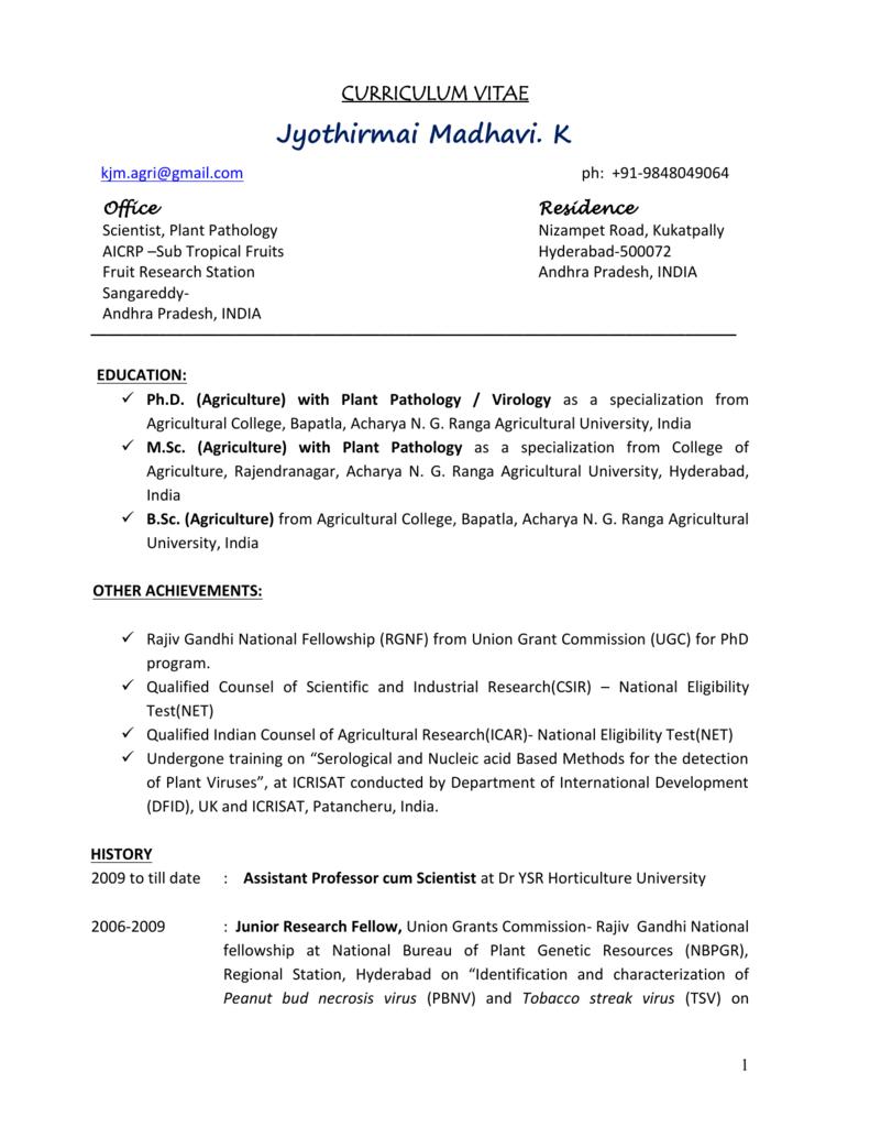 Jyothirmai Resume