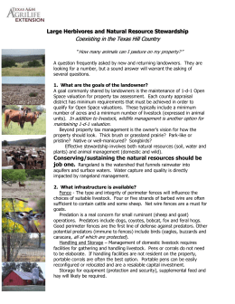 Domestic Livestock and Natural Resource Stewardship