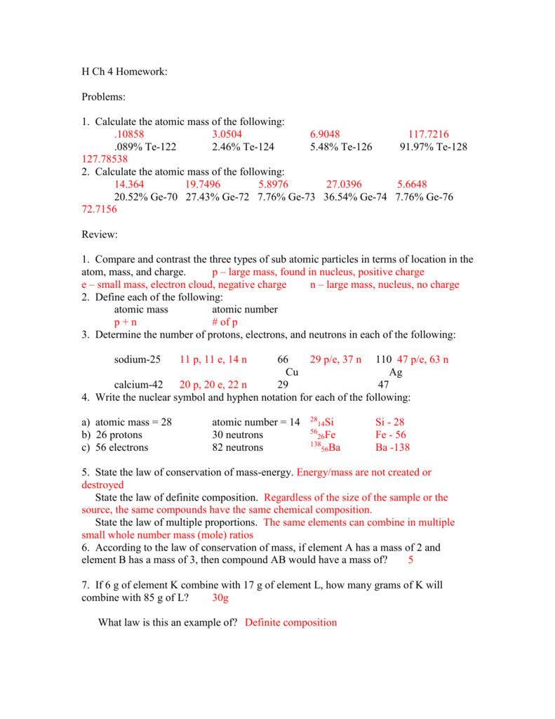 H ch 4 homework key buycottarizona Image collections