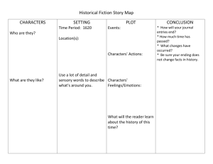 Historical Fiction Story Map - Mrs. Ramm`s Fourth Grade Class